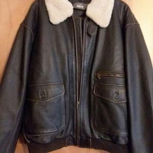 NWT ST JOHN'S Leather Flight Jacket